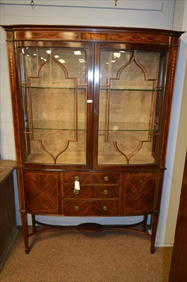 Lot 459 - Bowfront display cabinet.