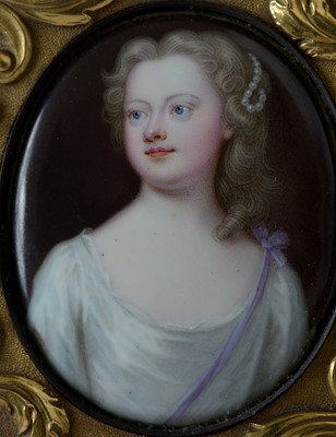 Lot 717-Late 18th/early 19th Century Continental School - porcelain miniature portrait