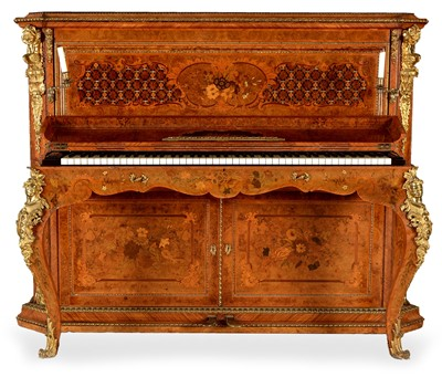 Lot 999-An impressive late 19th Century burr walnut