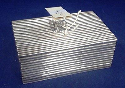 Lot 7-Silver cigarette box