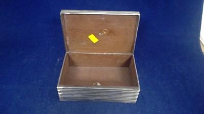 Lot 7-Silver cigarette box