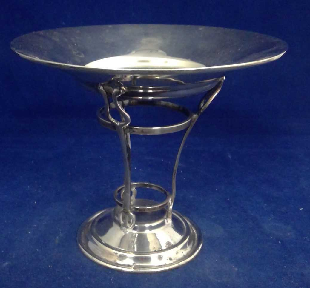 Lot 9-Silver Arts and Crafts tazza