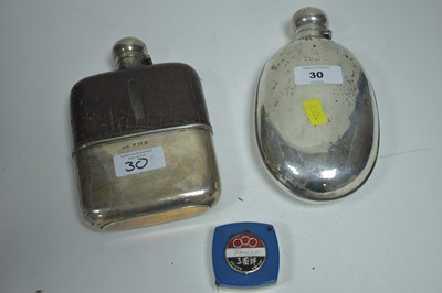 Lot 30-Two hip flasks