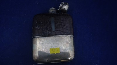 Lot 10-Two hip flasks