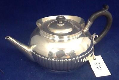 Lot 13-Silver teapot