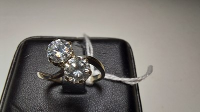 Lot 72-Two stone diamond ring