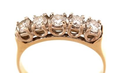 Lot 38-Five stone diamond ring