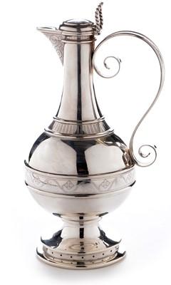 Lot 311-Victorian silver claret jug