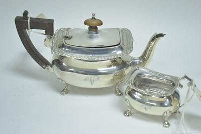 Lot 30-Silver batchelors teapot and jug