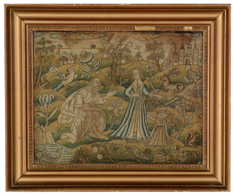 Lot 971 - 17th century needlework picture