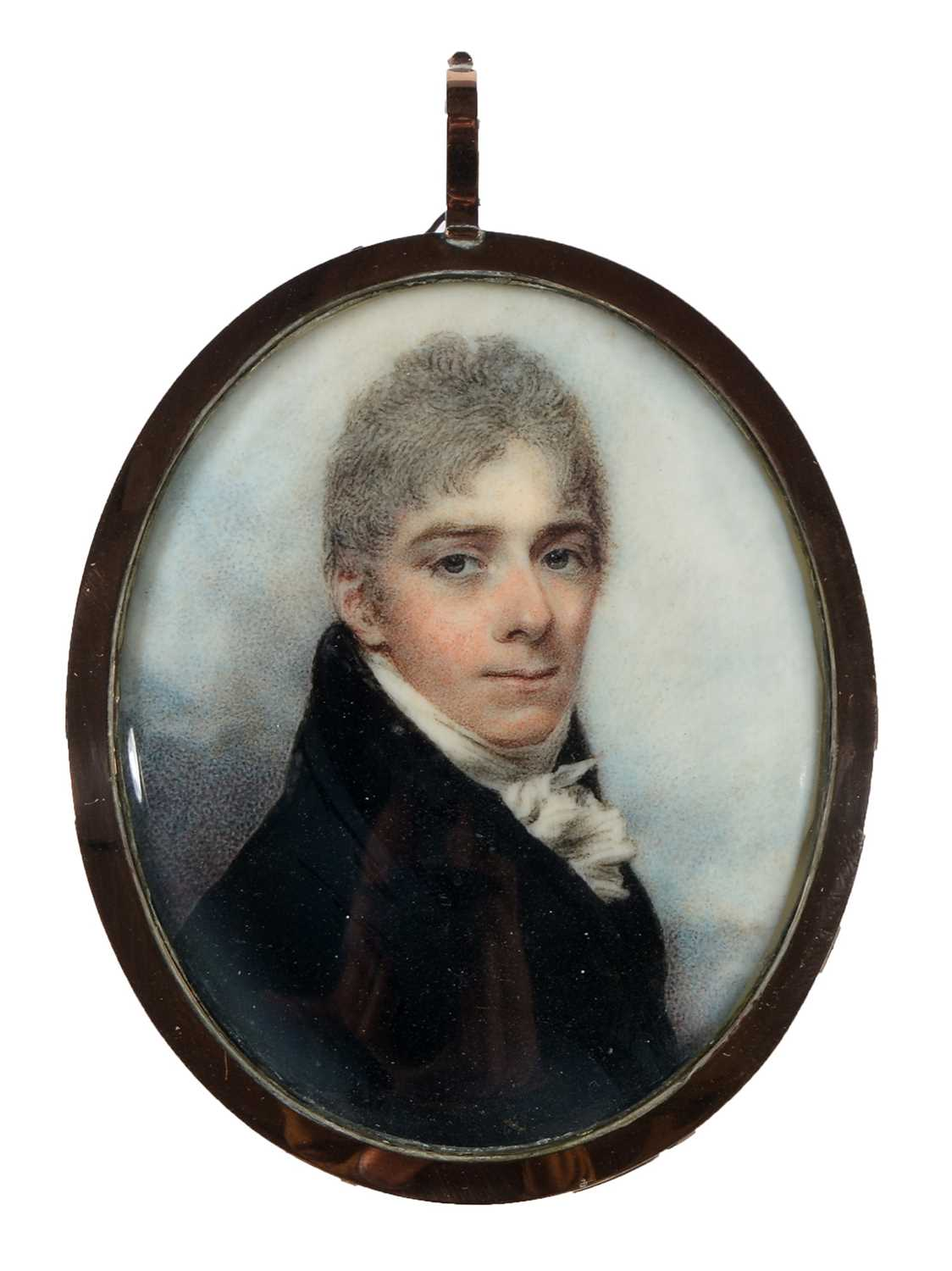 Lot 675 - Circle of George Engleheart - miniature on ivory.