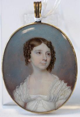 Lot 708 - 19th Century British School - miniature bust portraits
