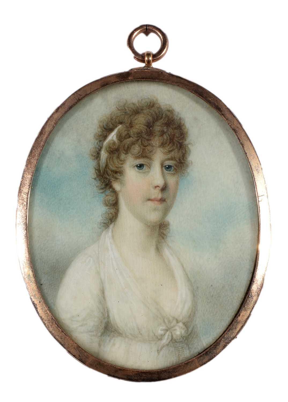 Lot 715 - Circle of Richard Cosway - a miniature portrait