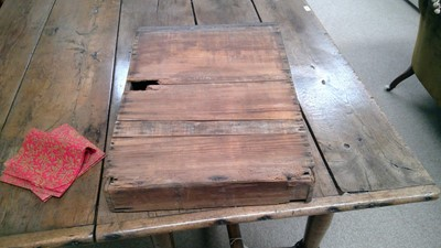 Lot 1156 - 18th Century oak refectory style table