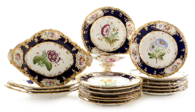 484 - Coalport floral dessert service circa 1840