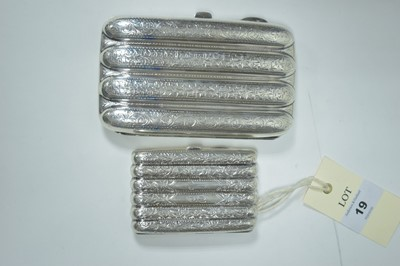 Lot 19-Two silver cigar cases