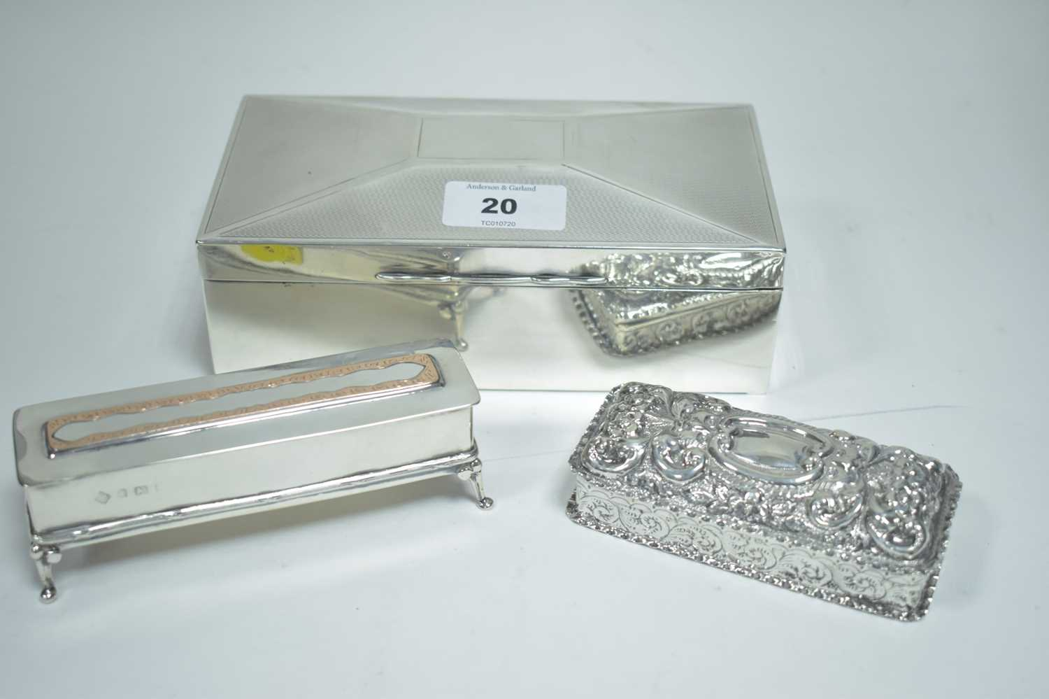 Lot 20-Three silver boxes