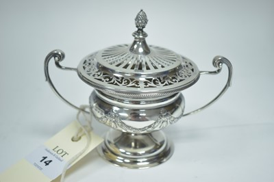 Lot 14-Silver covered cup
