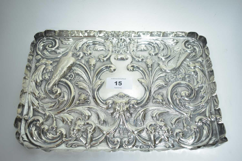Lot 15-Silver tray