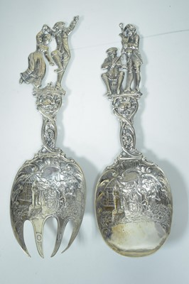 Lot 17-Dutch silver servers