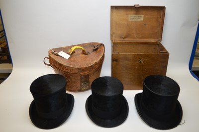 Lot 276 - Three top hats