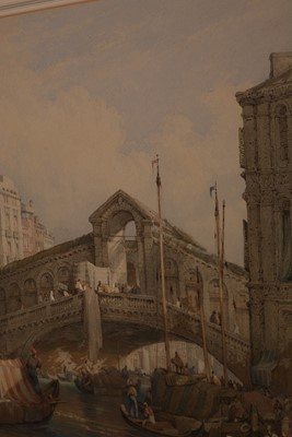 Lot 634 - Attributed to Samuel Prout - watercolour.
