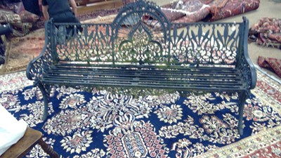 Lot 1183 - Late Victorian Coalbrookdale Bench