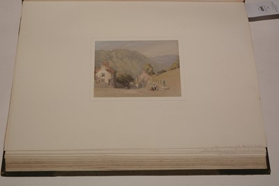 Lot 549-A 19th Century album of watercolours and drawings.