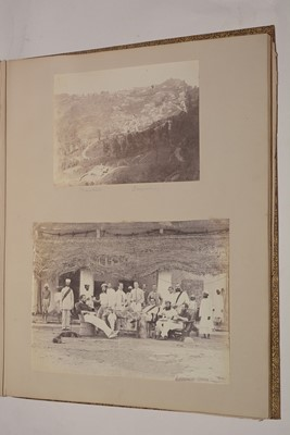 Lot 550 - A 19th Century album of photographs, watercolours and drawings.