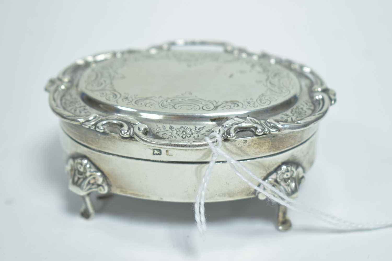 Lot 4-Silver jewellery box