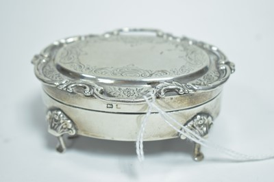 Lot 4-Silver jewellery box