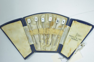 Lot 7-Playing card cocktail sticks