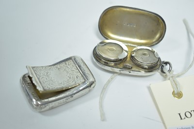 Lot 10-Silver sovereign case and snuff box