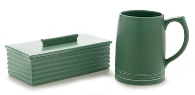 Lot 1109 - Keith Murray Wedgwood box and cover and mug