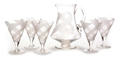 Lot 1115 - Art Deco Glass lemonade set