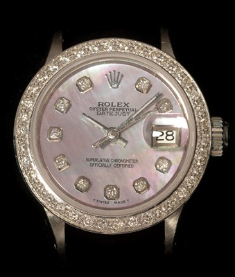 Lot 10 - Rolex ladies datejust diamond watch