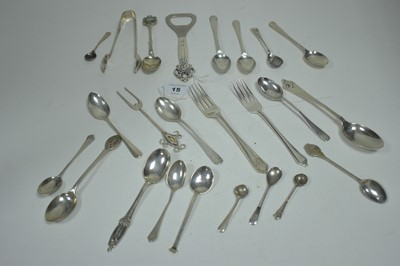 Lot 15-Siler teaspoons and other items
