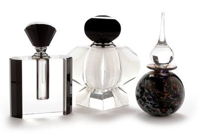 Lot 1116 - Three glass scent bottles