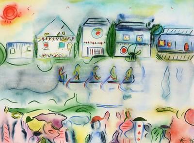 Lot 578 - * K* - watercolour.