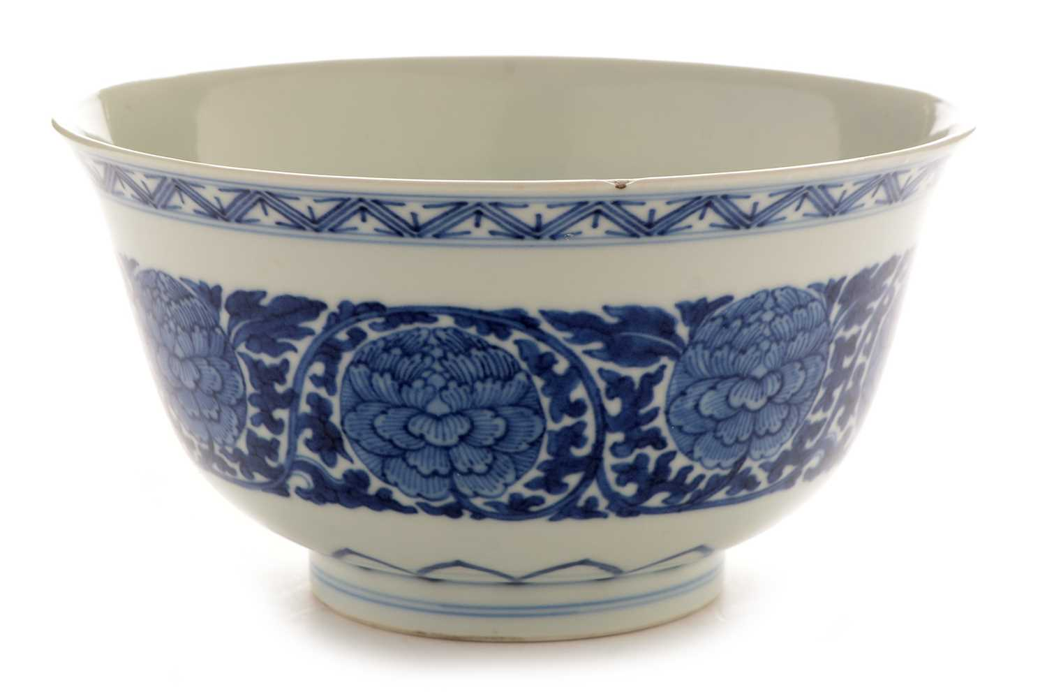 416 - Chinese blue and white bowl, Qianlong mark
