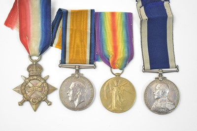 Lot 8-Royal Navy Long Service and Good Conduct group,...