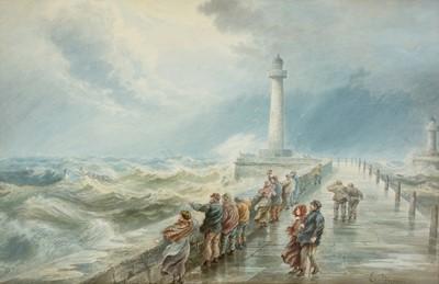 Lot 314-Edward Duncan - watercolour.