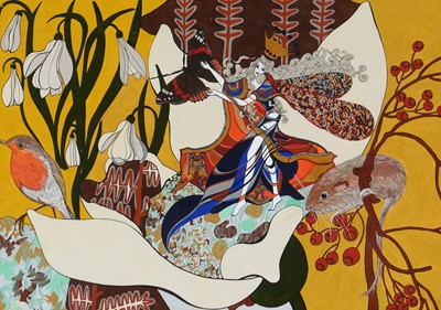 Lot 876 - Hilary Roper - gouache and ink.