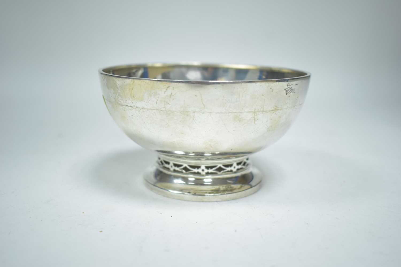 Lot 9-A silver bowl