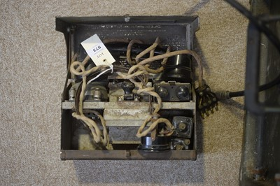 Lot 973-Military Field Telephone and receiver