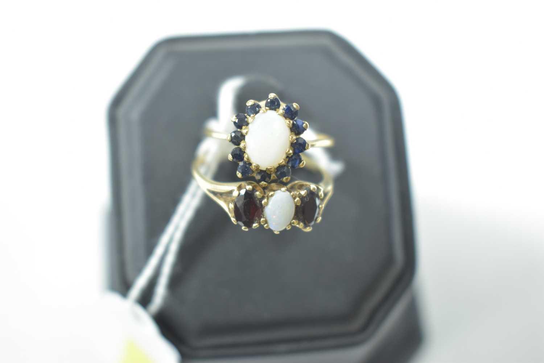 Lot 18-Two opal rings