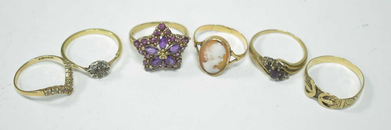 Lot 19-Six rings