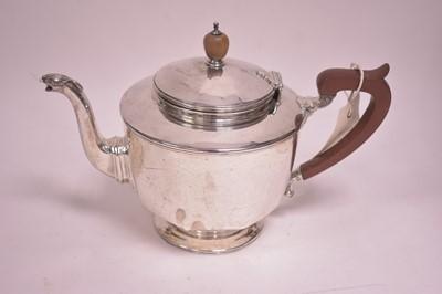 Lot 311-Silver teapot
