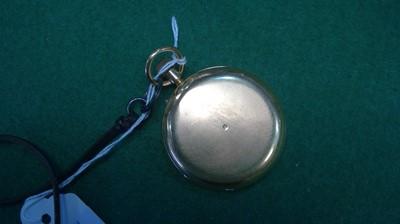 Lot 81 - 18k gold hunter pocket watch