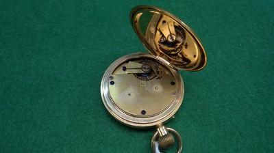 Lot 2-18k gold hunter pocket watch